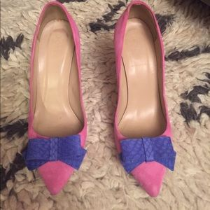 JCREW Pink Suede Shoes
